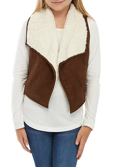 TRUE CRAFT Girls 7-16 Sherpa Vest