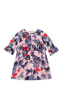 Girls Toddler Confetti Hearts Dress