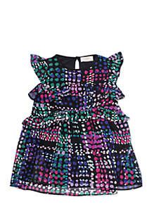 Girls 2-6x Ruffle Tiers Dress