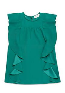 Girls 2-6x Cascading Ruffles Dress