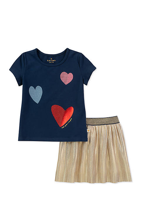 kate spade new york® Girls 2-6x Tossed Hearts