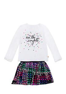 Girls 2-6x Cue The Confetti Skirt Set