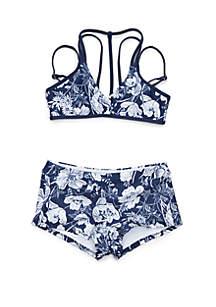 fa209a62e5 ... Next Girls Girls 7-16 Zen Garden Sport Bralette Bikini Top and Retro Bikini  Bottom