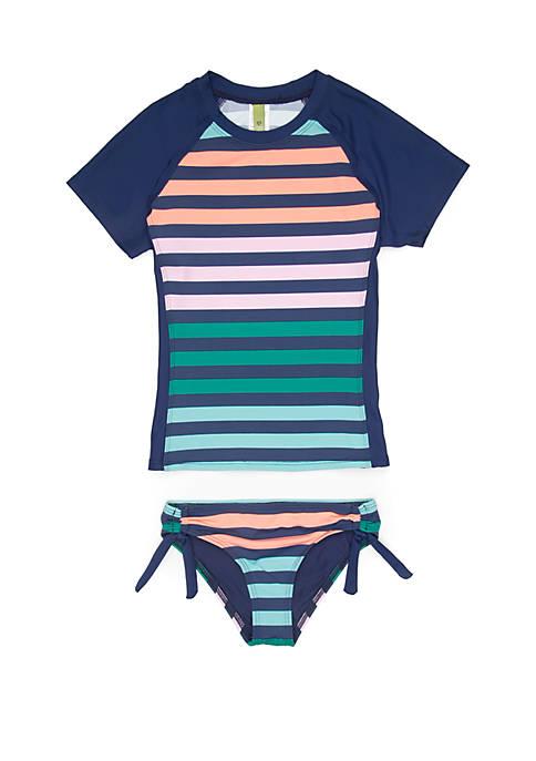 Next Girls Girls 7-16 Stripe Impact Short Sleeve
