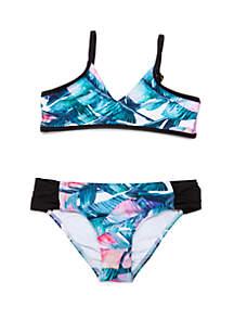 Next Girls Girls 7-16 Summer Shade Bralette Top and Chopra Bottom Bikini Swimsuit