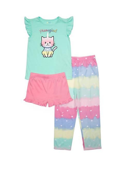 Lightning Bug Girls 4-16 3 Piece Pajama Set