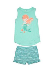 Lightning Bug Girls 4-16 2 Piece Tank and Shorts Pajama Set