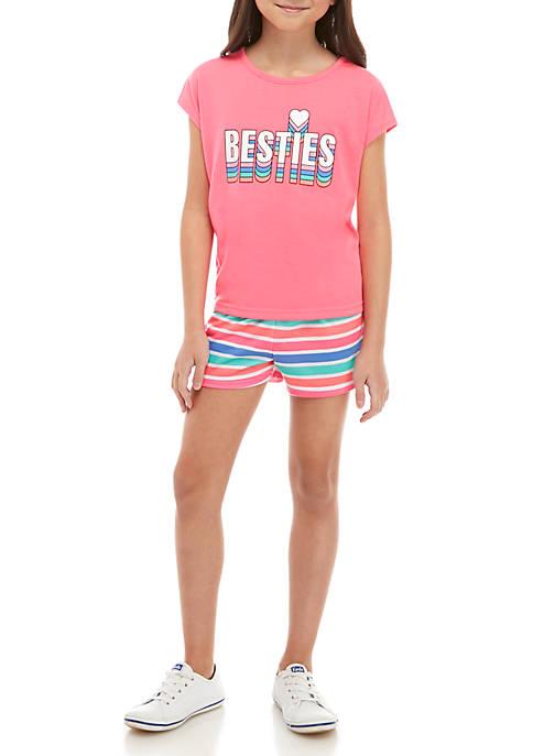 Lightning Bug Girls 7-16 2 Piece T Shirt