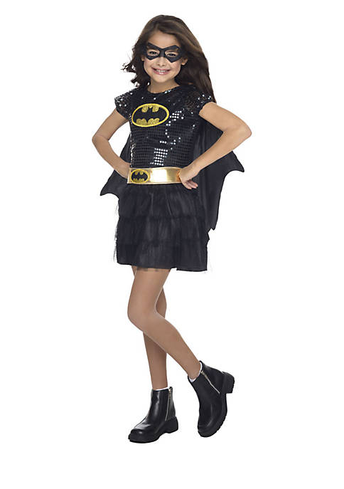 Rubie's Girls 7-16 Batgirl Sequin Child Costume