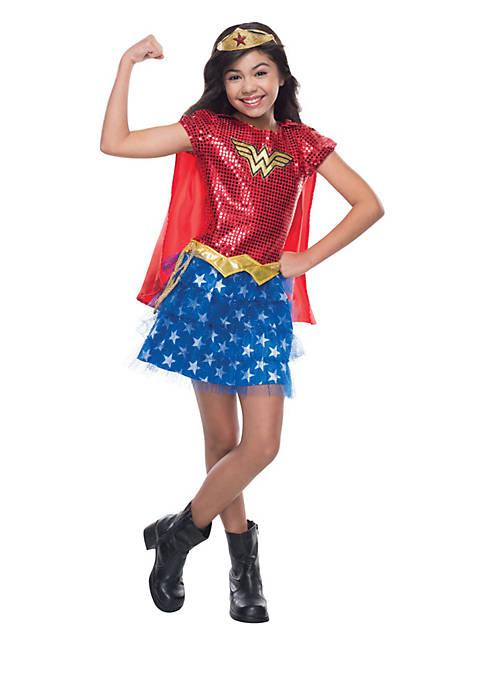 Girls 7-16 Wonder Woman Sequin Costume