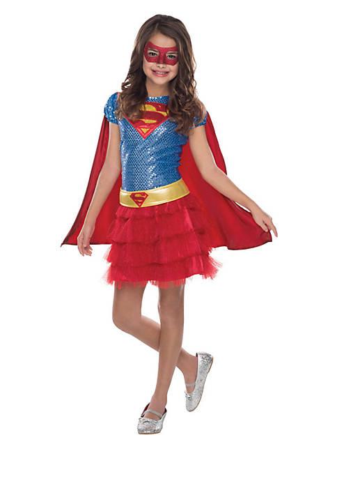 Girls 7-16 Supergirl Sequin Costume