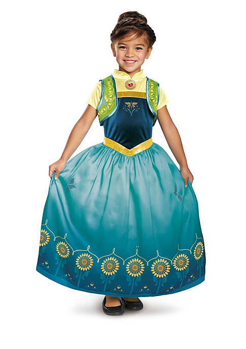 Rubie's Girls 7-16 Anna Frozen Fever Deluxe Costume