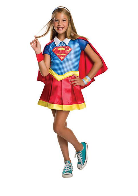 Rubie's Girls 7-16 DC Superhero Supergirl Deluxe Costume