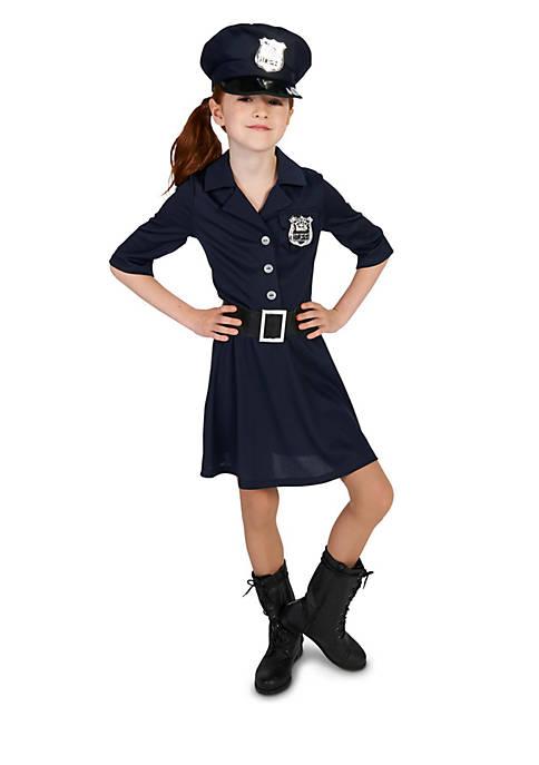 Girls 7-16 Police Costume