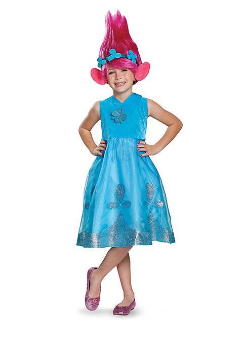 Girls 7-16 Trolls - Poppy Deluxe Costume with Wig