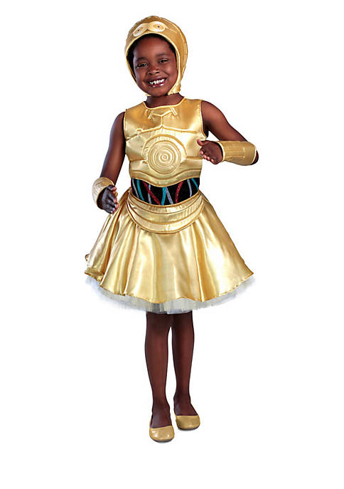 Rubie's Girls 7-16 Classic Star Wars C-3Po Dress