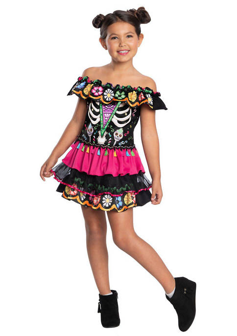 Charades Girls 7-16 Day Of The Dead Costume