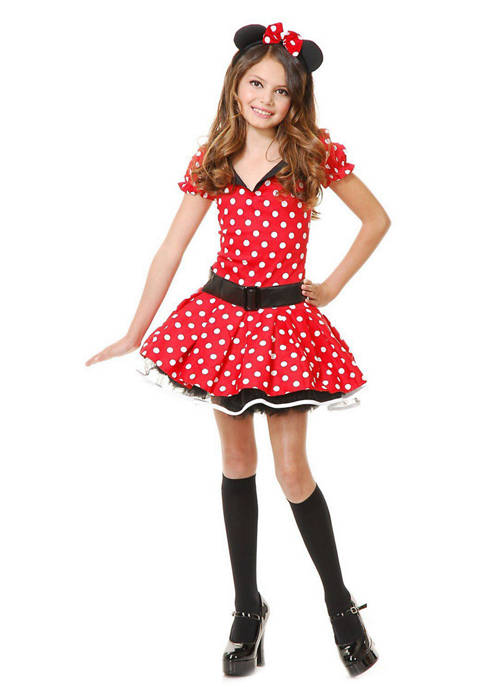 Charades Girls 7-16 Miss Mouse Costume