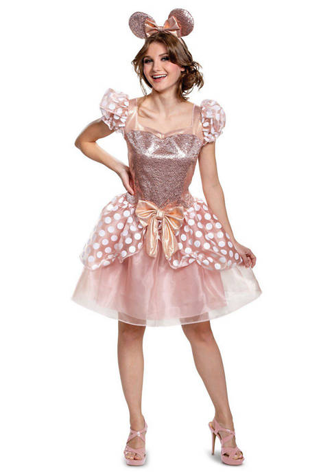 Disguise Adult Rose Gold Minnie Deluxe Costume