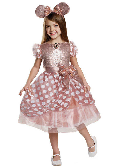 Disguise Girls 7-16 Rose Gold Minnie Deluxe Costume