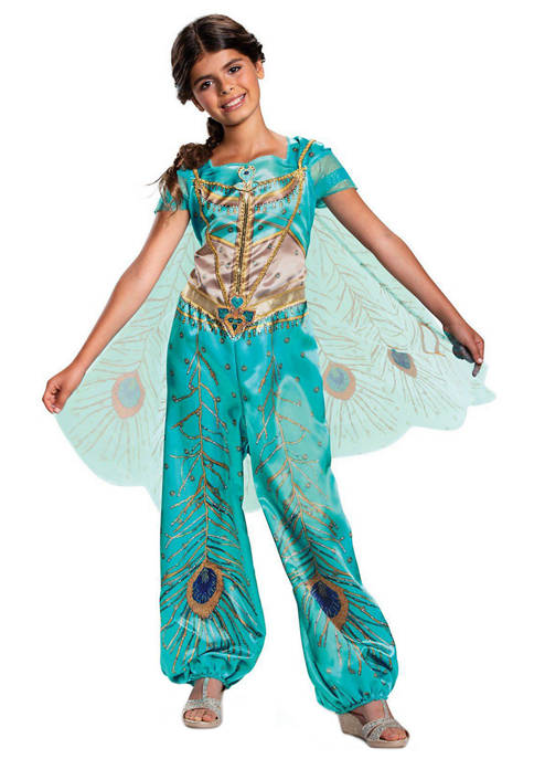 Disguise Girls 7-16 Aladdin: Jasmine Teal Classic Costume