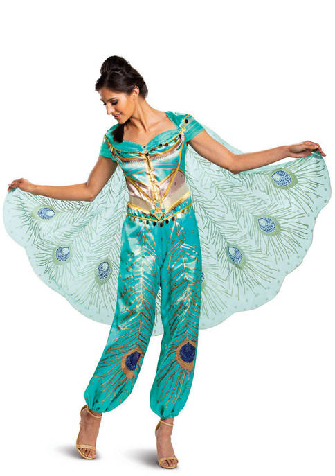 Disguise Adult Aladdin: Jasmine Teal Deluxe Costume