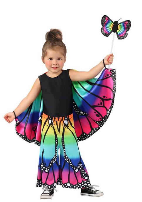 Princess Paradise Girls 7-16 Rainbow Butterfly Pants Costume
