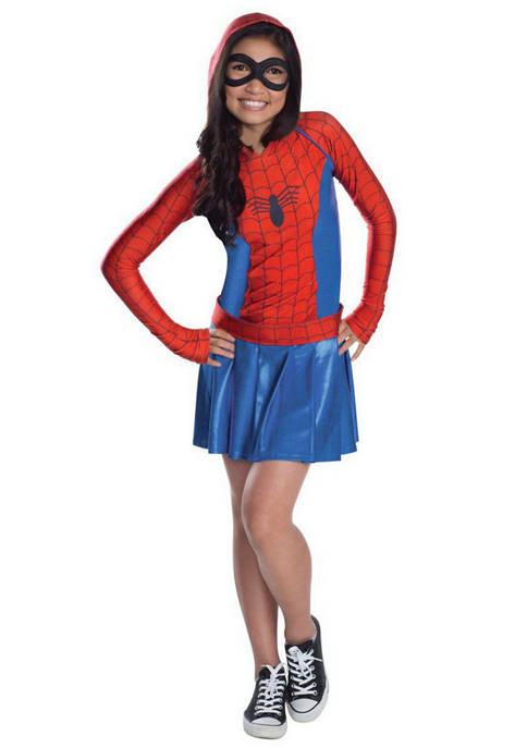 Rubie's Girls 7-16 Hooded Dress Girls Spider Costume