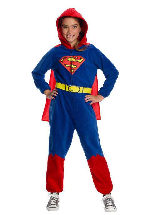 Rubie's Girls 4-6x DC Super Heroes Superman nesie