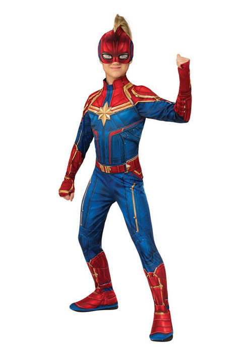 Rubie's Girls 7-16 Captain Marvel Hero Suit Costume