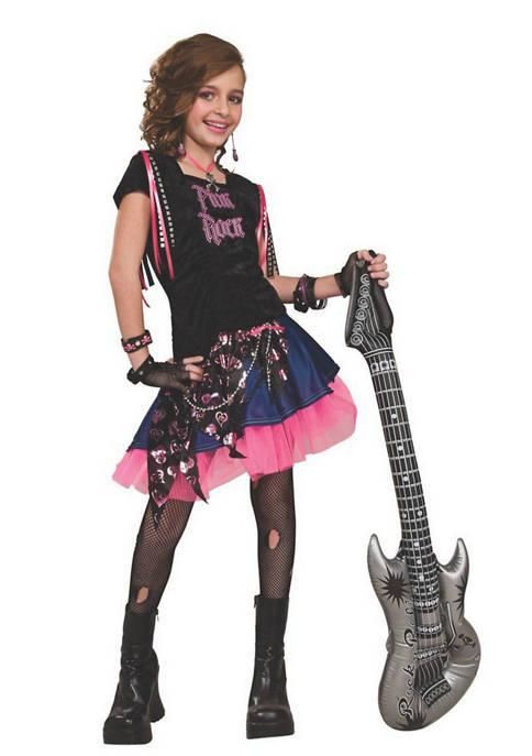 Rubie's Girls 4-6x Pink Rock Girl Costume