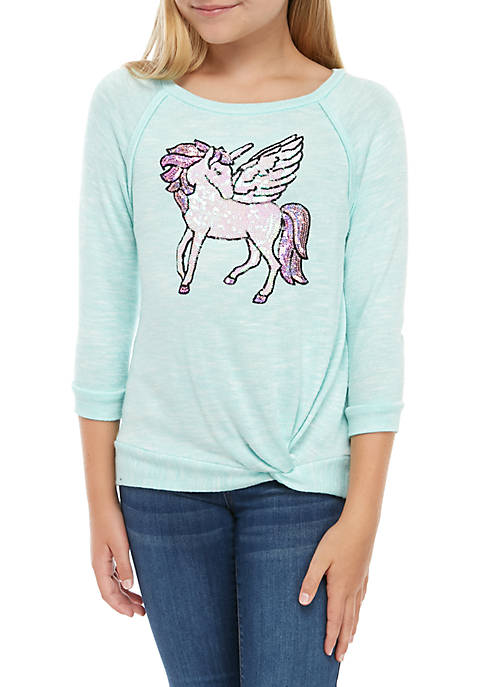 CHANCE OR FATE Girls 7-16 Long Sleeve Hacci