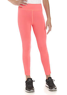 Girls 7-16 Solid Lattice Leggings