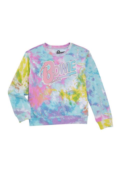 Girls 7-16 Long Sleeve Tie Dye Character Sweatshirt
