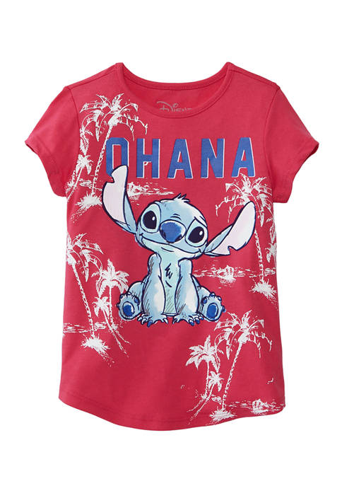Disney® Girls 7-16 Short Sleeve Stitch Graphic T-Shirt