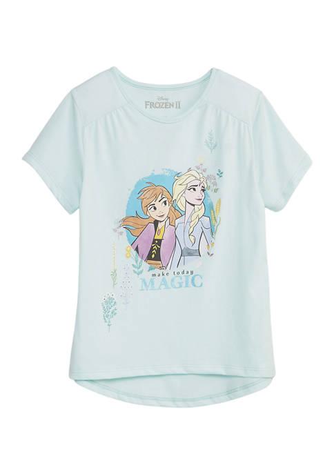 Disney® Frozen 2 Girls 7-16 Short Sleeve Graphic