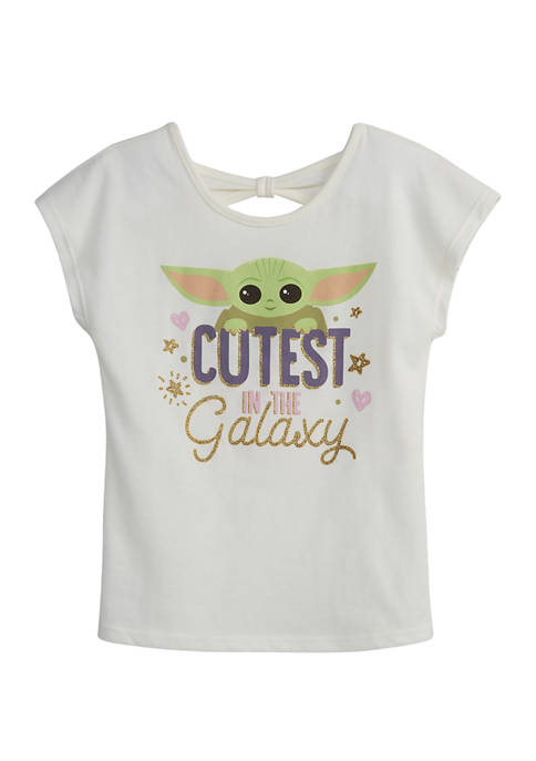 Girls 7-16 Short Sleeve Cutest in the Galaxy Graphic T-Shirt