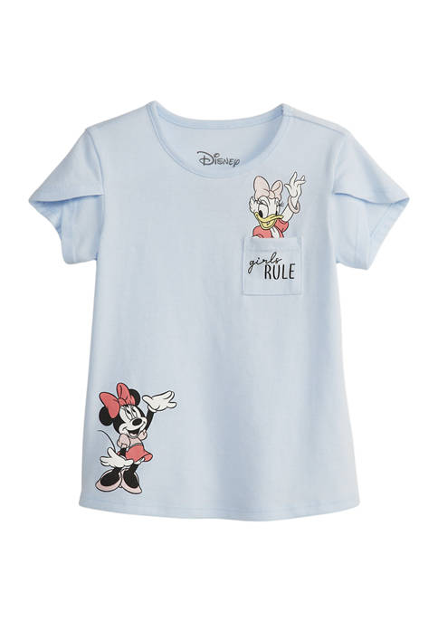 Disney® Minnie Girls 7-16 Short Sleeve Friends Graphic