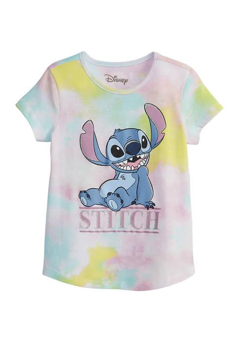 Disney® Girls 7-16 Tie Dye Stitch Graphic T-Shirt