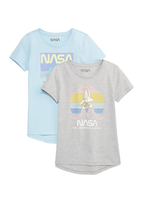 Girls 4-6x 2 Pack Graphic T-Shirts