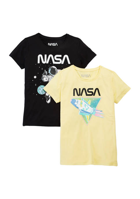 NASA Girls 7-16 2 Pack Graphic T-Shirts