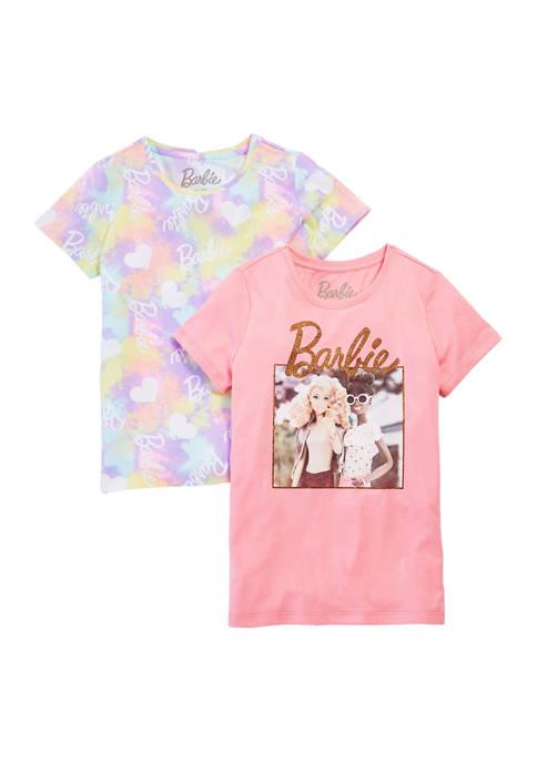 Barbie Girls 7-16 Licensed 2-Pack T-Shirt Set