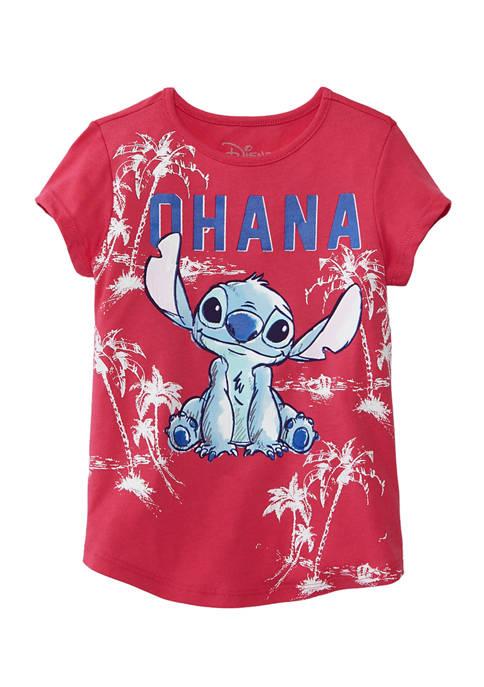 Disney® Girls 4-6x Short Sleeve Stitch Graphic T-Shirt