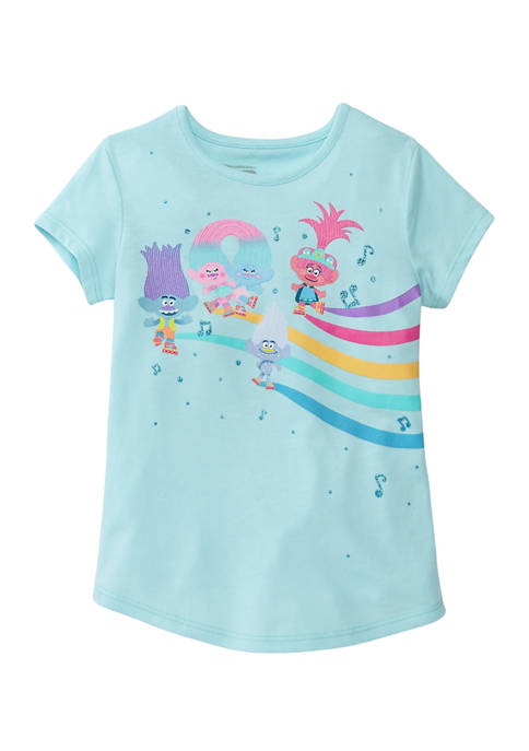 DreamWorks Trolls™ Girls 4-6x Short Sleeve Fashion Graphic