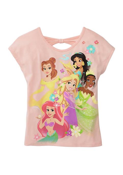 Disney® Princess Girls 4-6x Short Sleeve Back Cutout