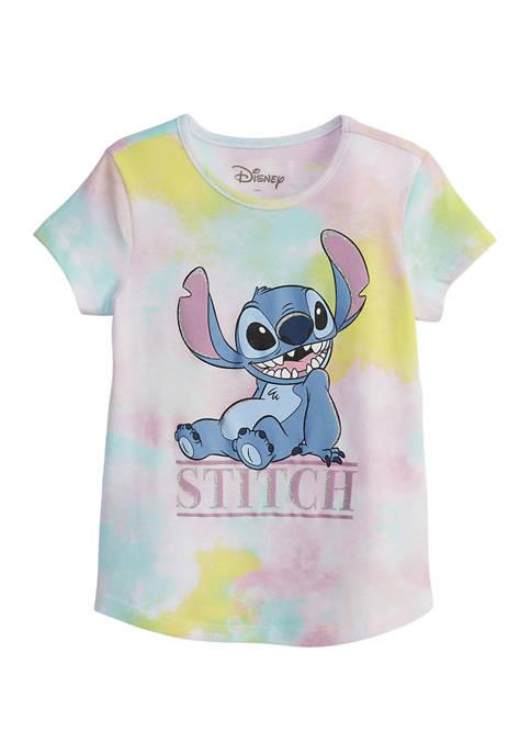 Disney® Girls 4-6x Tie Dye Stitch Graphic T-Shirt