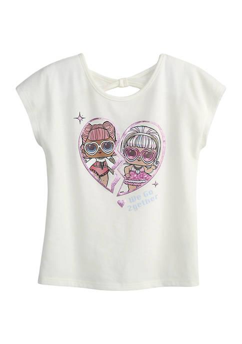 LOL Surprise Girls 4-6x Doll Heart Graphic T-Shirt