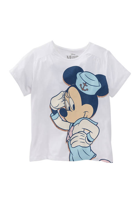 Disney® Minnie Girls 4-6x Short Sleeve Nautical Explorer