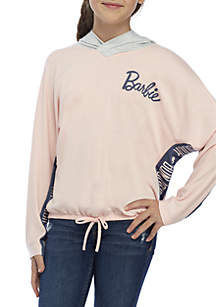 Girls 7-16 French Terry Barbie Hooded Sweater