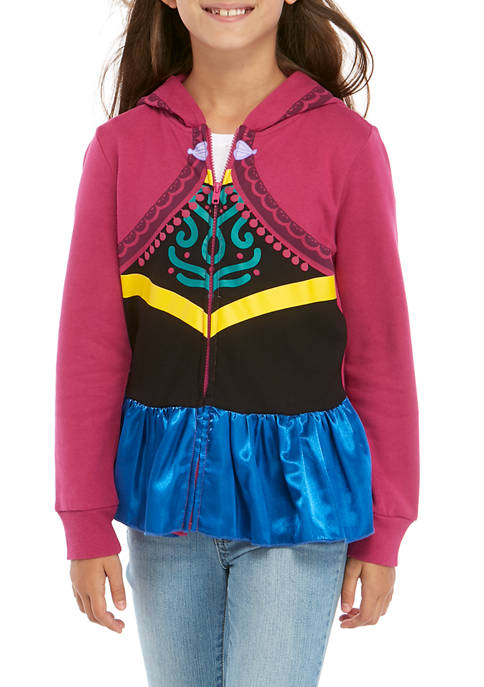 Disney Frozen Girls' Anna Cosplay Full-Zip Jacket